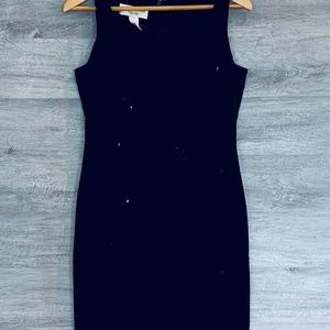 Jones New York Black Embellished Dress